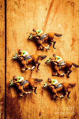 Thoroughbred Photograph - The Wooden Horse Race by Jorgo Photography - Wall Art Gallery