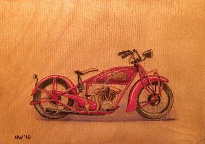 Pyrography Painting - The Wooden Indian by Ned Willis