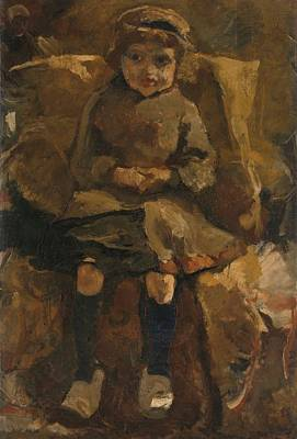 Wooden Shoes Painting - The Wooden Shoes, George Hendrik Breitner, 1884 - 1885 by Celestial Images