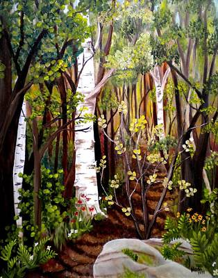 The Woodland Trail Art Print by Renate Nadi Wesley
