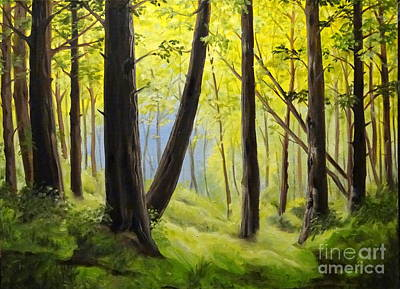 Painting - The Woods by Ida Eriksen