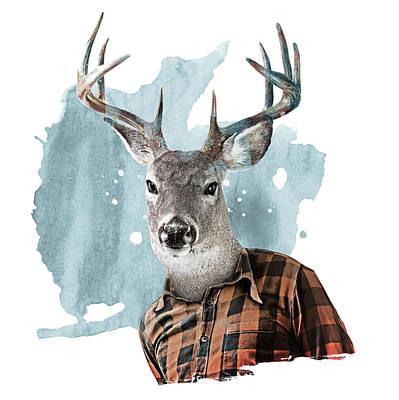 Digital Art - The Woodsman by Claude Peyrouse