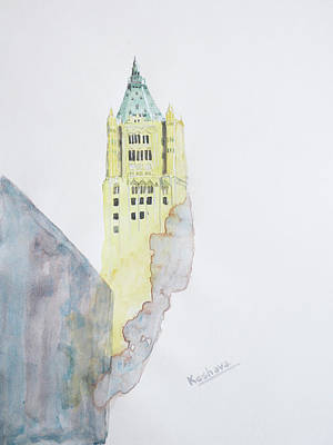 Painting - The Woolworth Building by Keshava Shukla