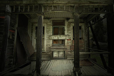 Haunted House Photograph - The Word by Brian Gustafson