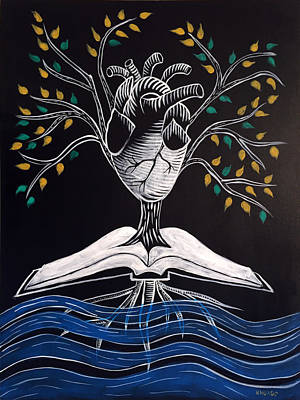 Prophetic Art Wall Art - Painting - The Word Is Life by Nathan Rhoads