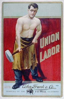 The Words Union Labor Are Prominently Art Print by Everett