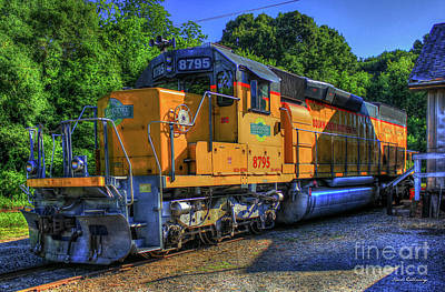 Photograph - The Workhorse Squaw Creek Southern Rail Road Locomotive Art by Reid Callaway