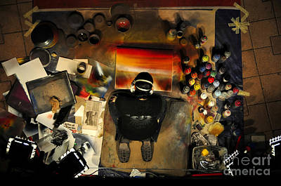 Artist Working Photograph - The Working Artist by David Lee Thompson