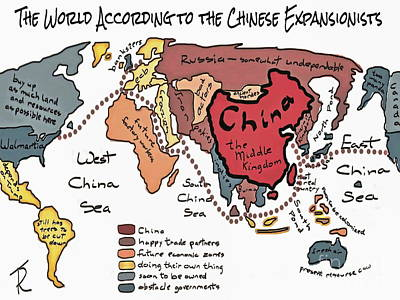 Drawing - The World According To The Ces by Tim Richards
