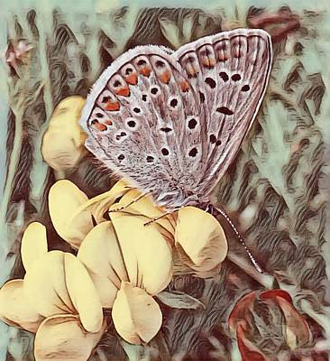 Painting - The World And The Butterfly  by Sheila Mcdonald
