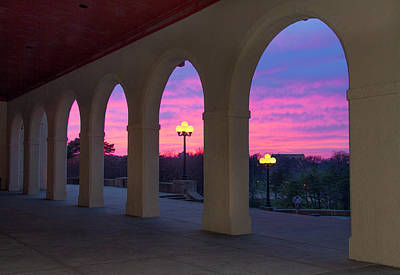 St Louis Photograph - The World Fair Pavilion In Forest Park At Sunset by Garry McMichael
