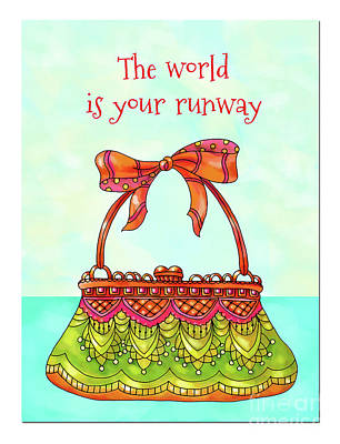 Vale Mixed Media - The World Is Your Runway by Pam Vale