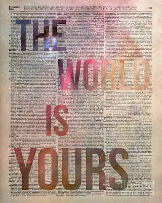 Office Decor Photograph - The World Is Yours  by Jacob Kuch