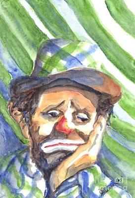 Emmett Kelly Painting - The World Loves A Clown by Carol Wisniewski