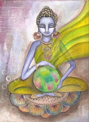 Mixed Media - The World Needs Healing by Prerna Poojara
