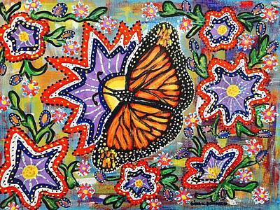 Painting - The World Of A Butterfly  by Gina Nicolae Johnson