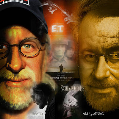 Digital Art - The World Of Steven Spielberg by Ted Azriel