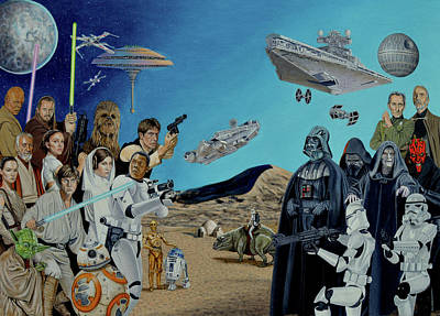 Painting - The World Of Star Wars by Tony Banos