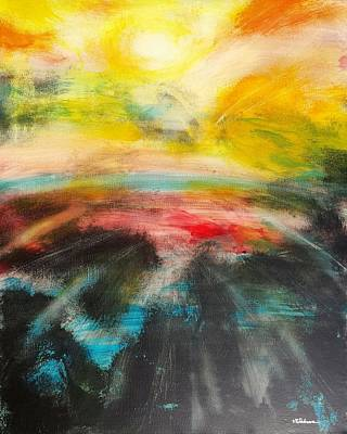 Painting - The World On Fire by Vic Delnore