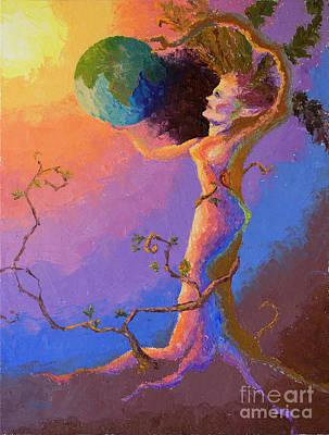 Painting - The World by Srishti Wilhelm