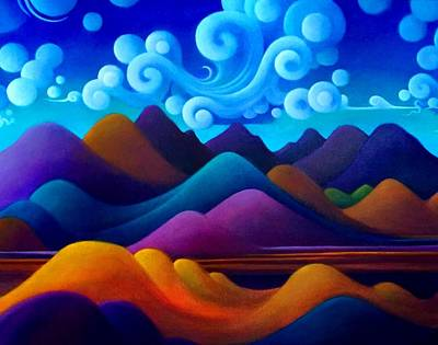 Painting - The World There In Motion by Richard Dennis