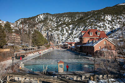 Photograph - The World's Largest Hot-springs Pool At The Spa Of The Rockies In Glenwood Springs by Carol M Highsmith