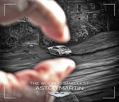 Photograph - The Worlds Smallest Aston Martin by ISAW Gallery