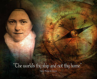 The World's Thy Ship And Not Thy Home. Art Print by Andy Schmalen