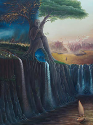 Painting - The Worldtree by Brian Nunes