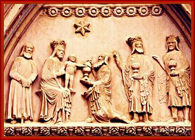 Jesus Christ Relief Photograph - The Worship Of The Magi 2 Card 2 by Sarah Loft