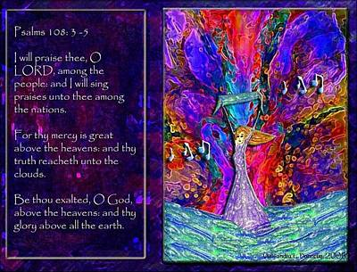 The Worshipping Heart And The Anointing Of Colors Art Print by Cassandra Donnelly