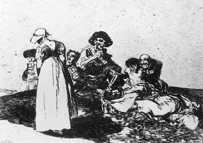 Painting - The Worst Is To Beg 1815 by Goya Francisco