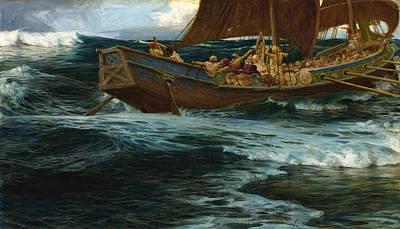 Painting - The Wrath Of The Sea God by Herbert James Draper