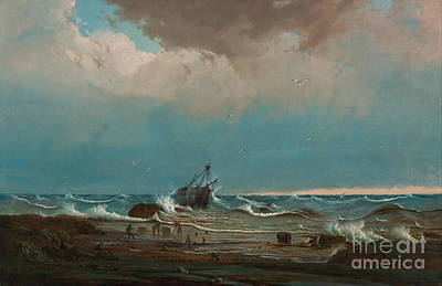 Knut Painting - The Wreck Of 'george The Third' by Celestial Images