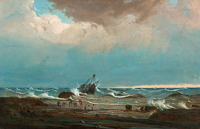 Knut Painting - The Wreck Of George The Third by Knut Bull