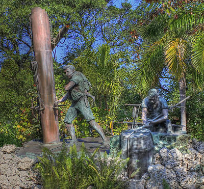 Mallory Square Key West Wall Art - Photograph - The Wreckers by Shelley Neff