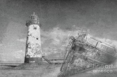The Wrecks  Art Print by Steev Stamford