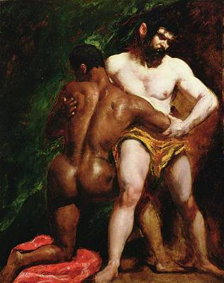 Painting - The Wrestlers by William Etty