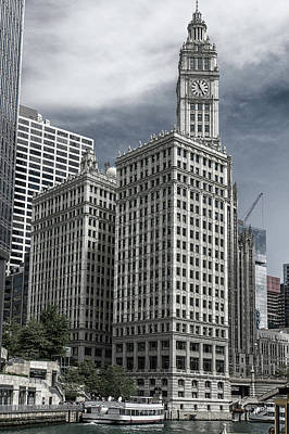Photograph - The Wrigley Building by Alan Toepfer