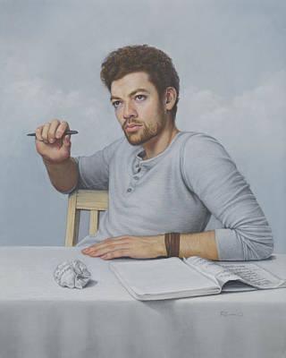 Painting - The Writer by Rita Romero