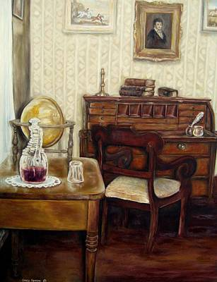 Painting - The Writing Room by Carole Spandau