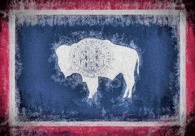Digital Art - The Wyoming Flag by JC Findley