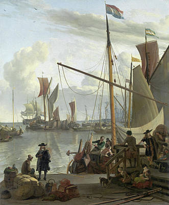 Painting - The Y At Amsterdam Seen From The Mosselsteiger  by Ludolf Bakhuysen
