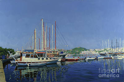 Painting - The Yachts by Simon Kozhin