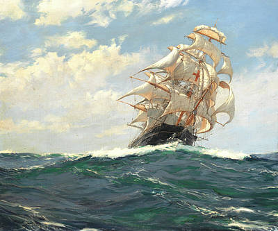 Yankee Painting - The Yankee Packet Dreadnought by Montague Dawson