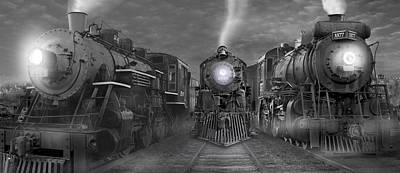 Train Digital Art - The Yard Panoramic by Mike McGlothlen