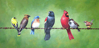 Cedar Waxing Painting - The Yardbirds by Kerry Trout