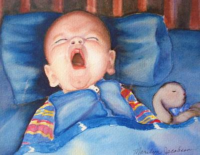 The Yawn Art Print by Marilyn Jacobson