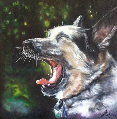 Yawning Painting - The Yawn by Terri M Hanson