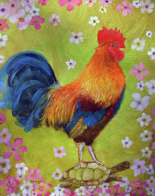 Painting - The Year Of The Rooster by Ashleigh Dyan Bayer